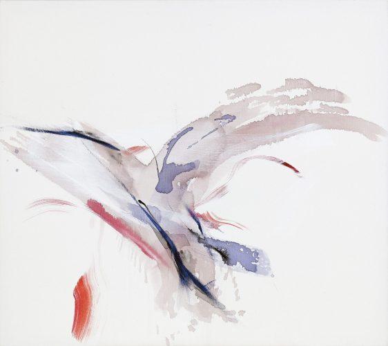 Dorith Teichman, Bird,acrylic on canvas, 80x90cm, 2018