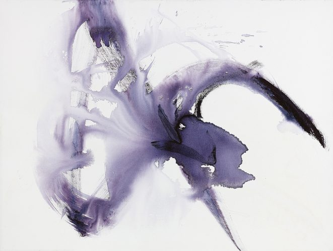 Purple movement, acrylic on canvas, 90x120cm. 2019